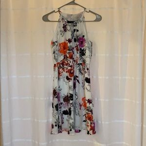 White and floral Loft dress